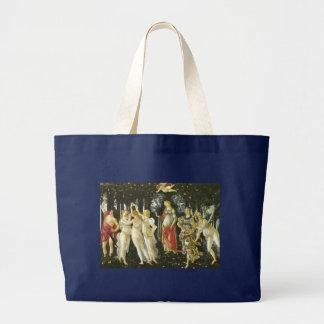 La Primavera by Sandro Botticelli Large Tote Bag