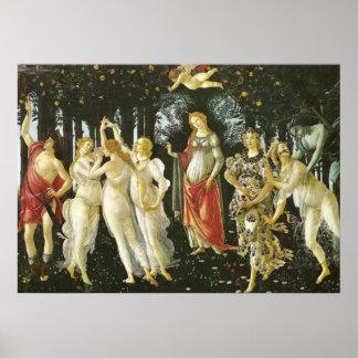 La Primavera by Sandro Botticelli Posters