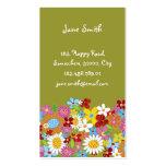 La primavera caprichosa dulce florece el jardín co tarjeta personal