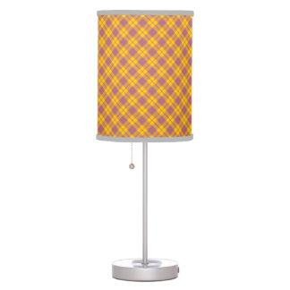La primavera colorea la lámpara de mesa del modelo