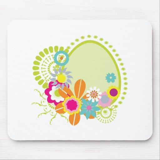 la primavera colorida florece vector alfombrilla de raton