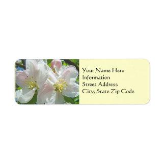 La primavera de encargo Apple de las etiquetas de  Etiqueta De Remite