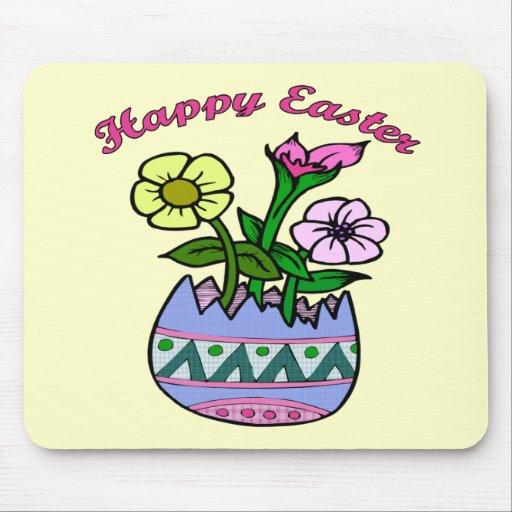La primavera de Pascua florece las camisetas y los Alfombrilla De Ratones