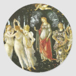 La Primavera de Sandro Botticelli Etiquetas Redondas