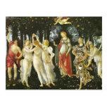 La Primavera de Sandro Botticelli Postal