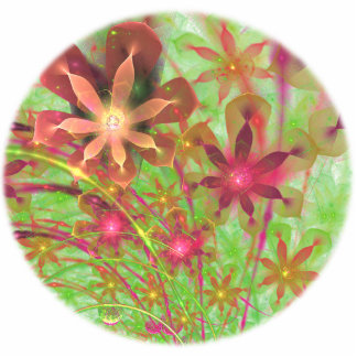 La primavera de Sproingy florece arte del fractal Chapa Fotoescultura
