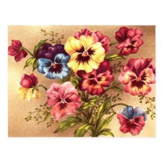 La primavera del vintage florece la postal