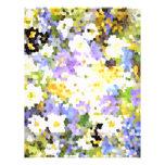 La primavera del vitral florece verde violeta amar membretes personalizados