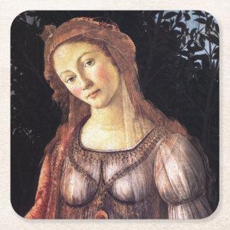 La Primavera detalladamente por Sandro Botticelli Posavasos Desechable Cuadrado