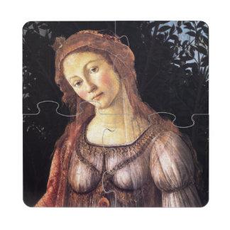 La Primavera detalladamente por Sandro Botticelli Posavasos De Puzzle