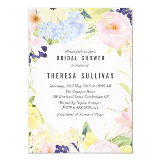 La primavera en colores pastel florece la invitación 12,7 x 17,8 cm