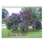 La primavera está aquí calendario