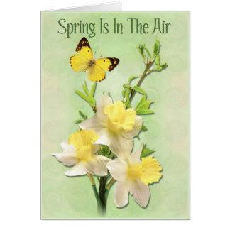 La primavera está en el aire tarjeta de felicitación