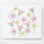 La primavera floral florece el collage Mousepads d Tapetes De Raton