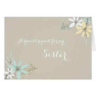 La primavera florece a la criada de la hermana de tarjeta de felicitación