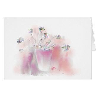 """La """"primavera florece"""" arte tarjeta pequeña"""