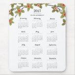 La primavera florece el calendario 2017 alfombrillas de ratones