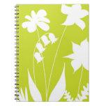 La primavera florece el cuaderno