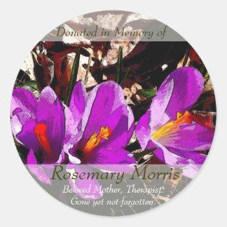 La primavera florece el ~ de la pintura donado en pegatina redonda
