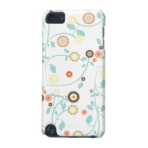 La primavera florece el estampado de flores elegan funda para iPod touch 5G