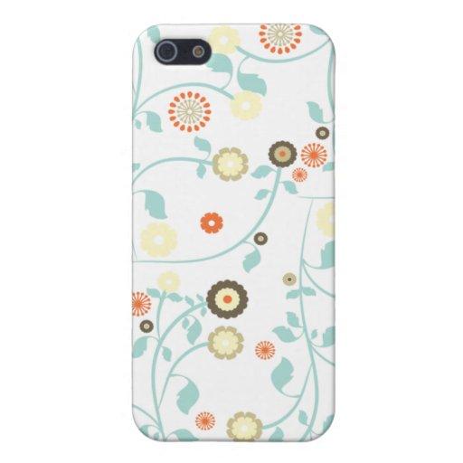 La primavera florece el estampado de flores elegan iPhone 5 funda