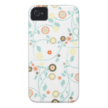 La primavera florece el estampado de flores femeni iPhone 4 fundas