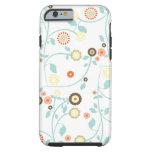 La primavera florece el estampado de flores funda de iPhone 6 tough