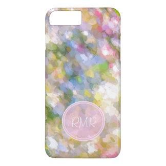 La primavera florece el monograma del arte funda iPhone 7 plus