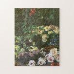 La primavera florece la bella arte de Claude Monet Puzzles