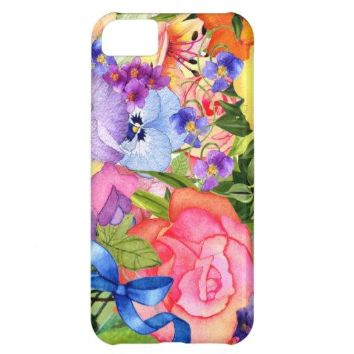 La primavera florece la caja del iPhone 5