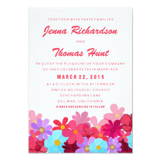 La primavera florece la invitación del boda