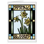 La primavera florece la tarjeta #1