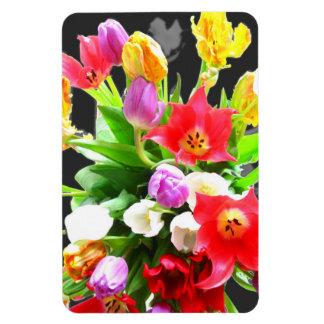 La primavera florece tulipanes imán de vinilo