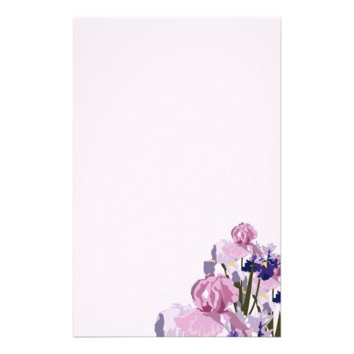 La primavera fresca del corte irisa floral papelería de diseño