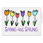 La primavera ha saltado felicitaciones