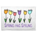 La primavera ha saltado mantel