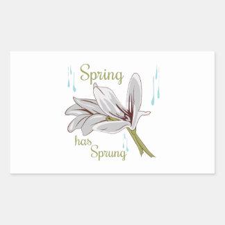 La primavera ha saltado rectangular altavoz