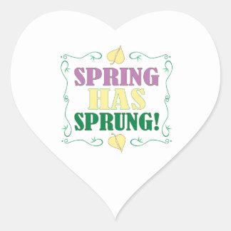 ¡La primavera ha saltado! Pegatina Corazón