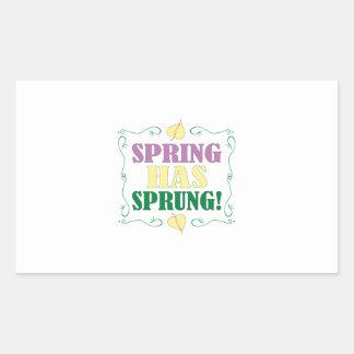 ¡La primavera ha saltado! Rectangular Altavoz