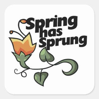 La primavera ha saltado pegatinas cuadradas