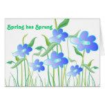 La primavera ha saltado - tarjeta