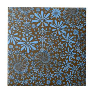 La primavera linda florece el azul y a Brown Azulejo Ceramica