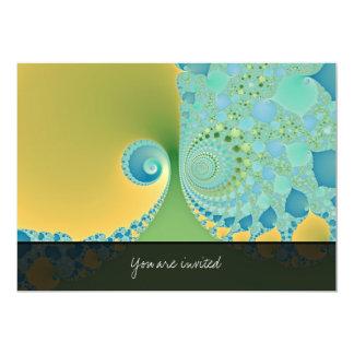 """La primavera llega - arte del fractal invitación 5"""" x 7"""""""