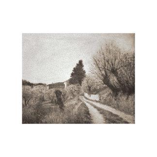 La PRIMAVERA MÁS TEMPRANA EN VERNALESE/el paisaje Lona Envuelta Para Galerías