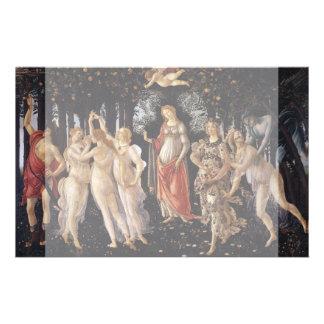 La Primavera (primavera) por Sandro Botticelli Tarjetas Informativas