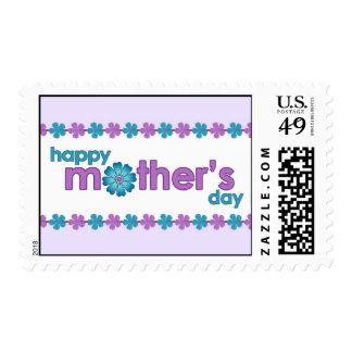 La primavera púrpura del día de madre florece el sello postal