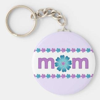 La primavera púrpura del día de madre florece llav llaveros personalizados