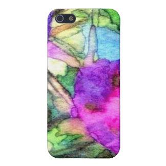 La primavera púrpura florece CricketDiane iPhone 5 Fundas