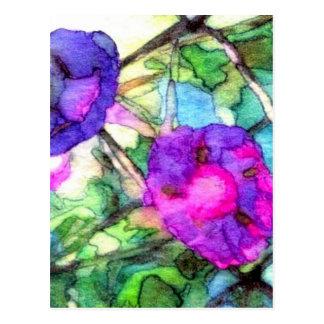 La primavera púrpura florece CricketDiane Postal