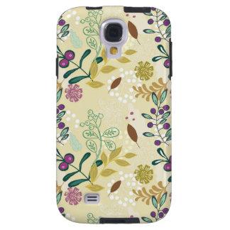 La primavera retra de la MOD del vintage florece e Funda Galaxy S4